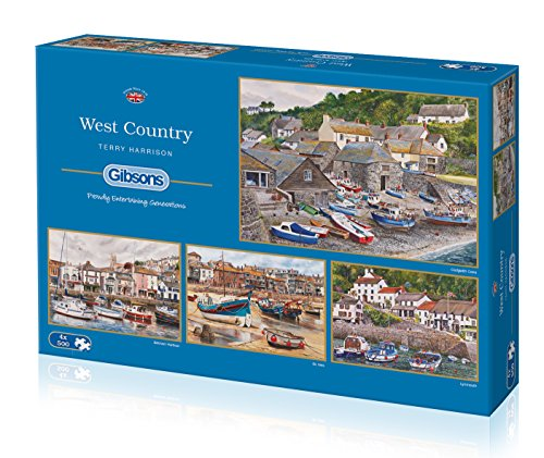 Gibsons The West Country Jigsaw Puzzles (4 x 500-Piece)