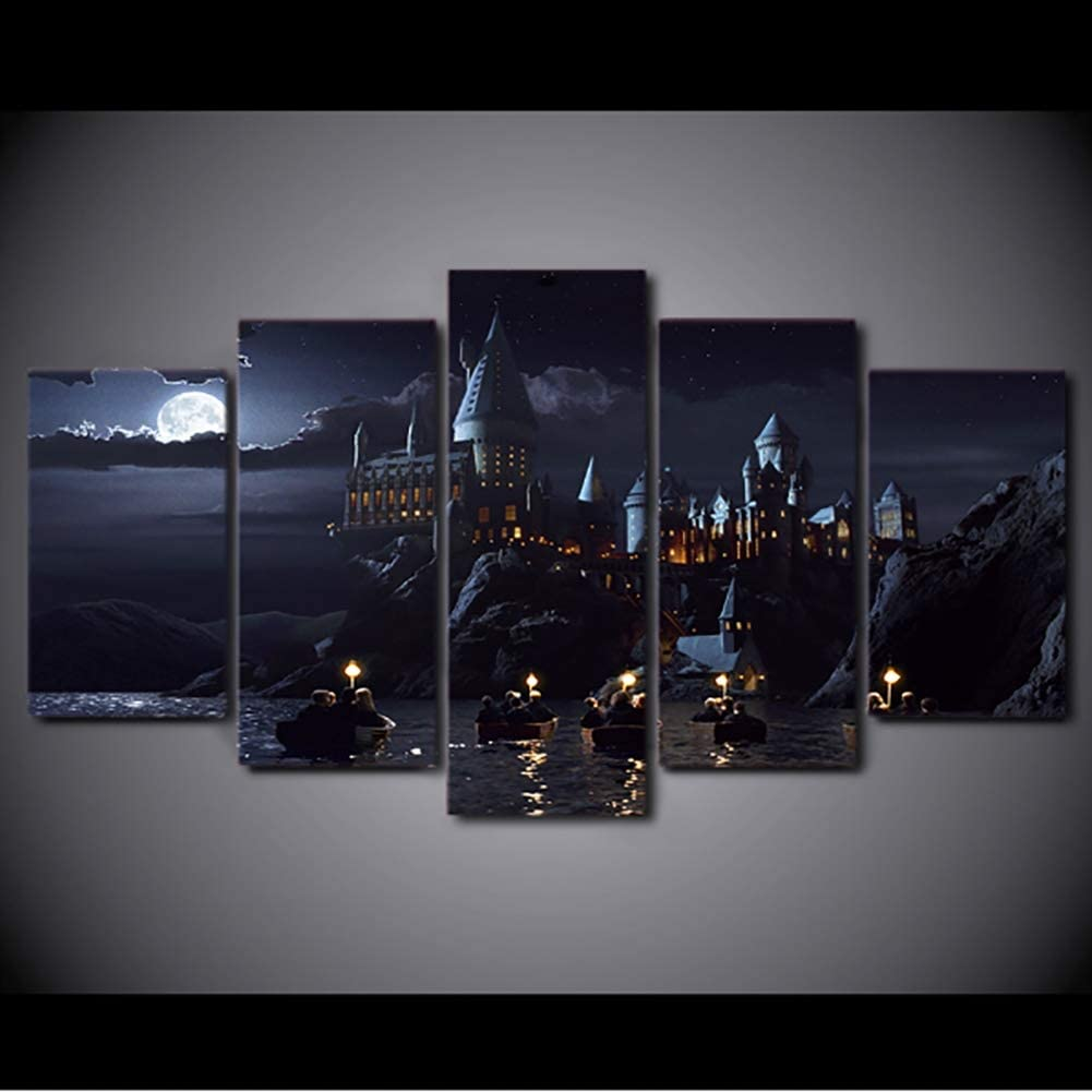 XLST HD Impreso Wall Art Deco Framework 2000 Piezas Harry Potter School Castle  Decor Posters,B,2000x20000x200+2000x200x200+2000x20x20