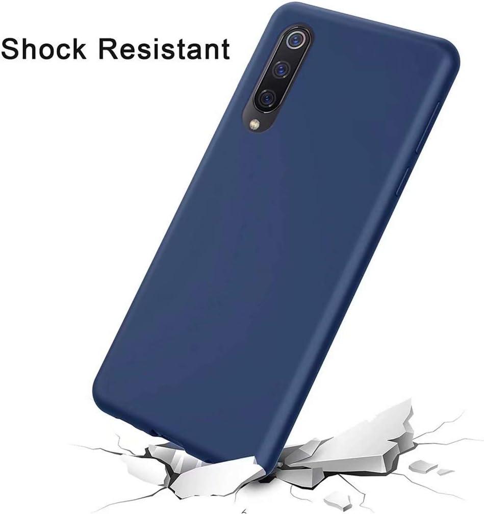 -Azul CRABOT Compatible con Xiaomi Redmi 7A Silicona L/íquida Caso Cubierta de Goma Anti-ca/ída Resistente a Los Ara/ñazos Carcasa del Tel/éfono+1* Protector de Pantalla Gratuito
