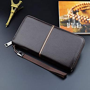 Business Long Money Wallets for Men Foviza PU Purse Coin Bag Durable Cards Holder