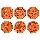 Brown Sugar Savers - Set of 6 - Hummingbird, Maple Leaf, Sun, Owl, Bear, and Daisy designs