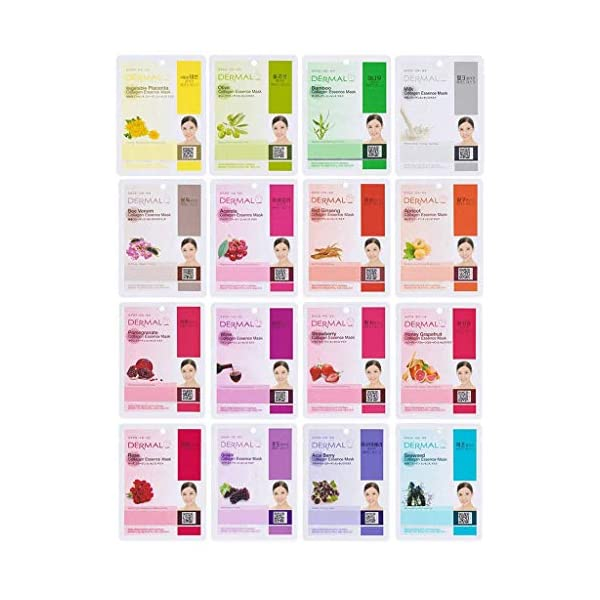 Beauty Shopping Dermal Korea Collagen Essence Full Face Facial Mask Sheets