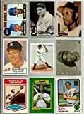 Superstar Hall Of Famer Reprint Baseball Card Lot (9) Babe Ruth Nolan Ryan 1968 Rookie Roberto Clemente Lou Gehrig 1933 Mickey Mantle 1954 Jackie Robinson Ty Cobb Hank Aaron Willie Mays 1973. Cards issued 1989 to Present.