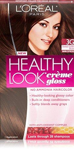 3 Pk, Healthy Look Creme Gloss, Darkest Golden Brown / Warm Espresso #3G