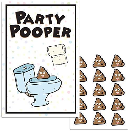 Party Pooper Pin The Emoji Birthday Game