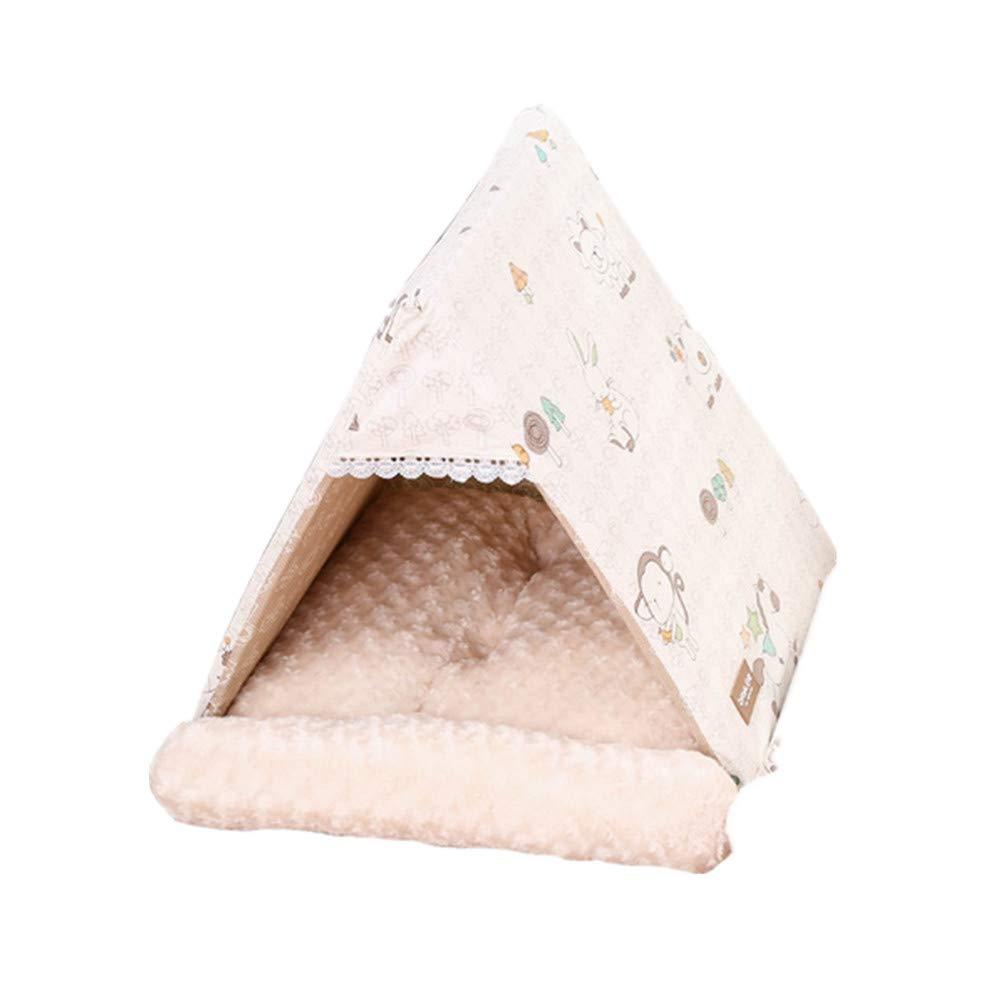 il miglior servizio post-vendita Mzdpp Piramide Tenda Nido Per Animali Da Compagnia Nido Caldo Caldo Caldo Per Gatti Morbido Lavabile Per Cani Di Piccola Taglia Beige 50X45X45 Cm  edizione limitata