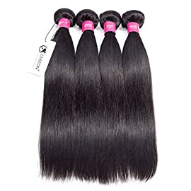 CHEEON Malaysian Virgin Hair 10 inches 13×4 Lace Frontal Closure Ear To Ear Free part Unprocessed Straight Human Hair Top Lace Front Closures with Baby Hair Bleached Knots Natural Color …