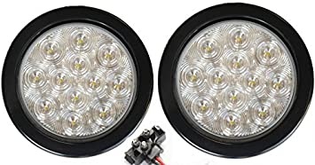2 22 LED White 9 1//2 inch Reverse Backup Light RV Truck Trailer Camper