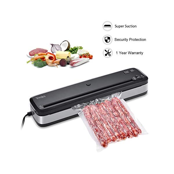 Macchina Sottovuoto per Alimenti, Ymiko Professionale Sigillatrice Sottovuoto Alimenti Portatile Macchina Sigillatrici… 1 spesavip