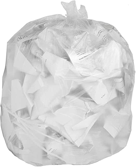 Amazon Com Strong Clear Trash Bags Transparent See Through Garbage Bags 100 39 Gallon Health Personal Care