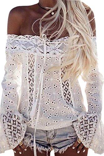 ECOWISH Womens Crochet Shoulder Sleeve product image