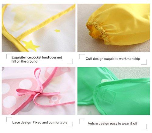 [2 pack] Baby bibs with pocket,Waterproof sleeved bib,100% polyester fiber Bibs for Teething Feeding Baby_CLRST5q by AaBbDd (Image #4)