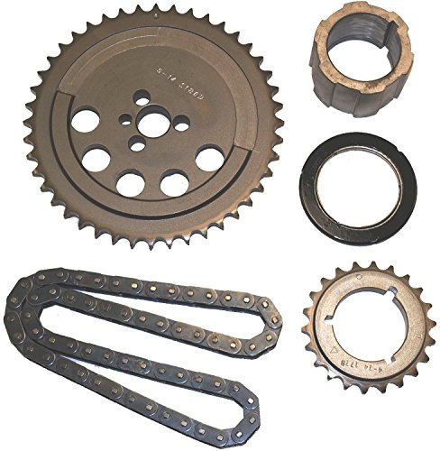 Cloyes 9-3658TX3 Race Billet True Roller Timing Kit Incl. Billet Steel Cam Sprocket/3 Keyway Billet Steel Crank Sprocket/0.5 in. True Roller Single Chain/Thrust Needle Bearing Race Billet True Roller Timing Kit