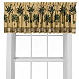 Cheap Kona Cotton Blend Rod Pocket Ruffled Curtain Valance