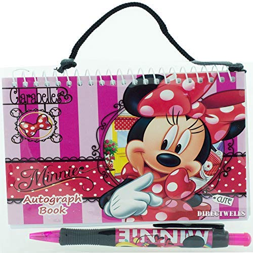 Red Autograph - Disney Minnie Mouse Red Autograph Book with 1 Retractable Pen