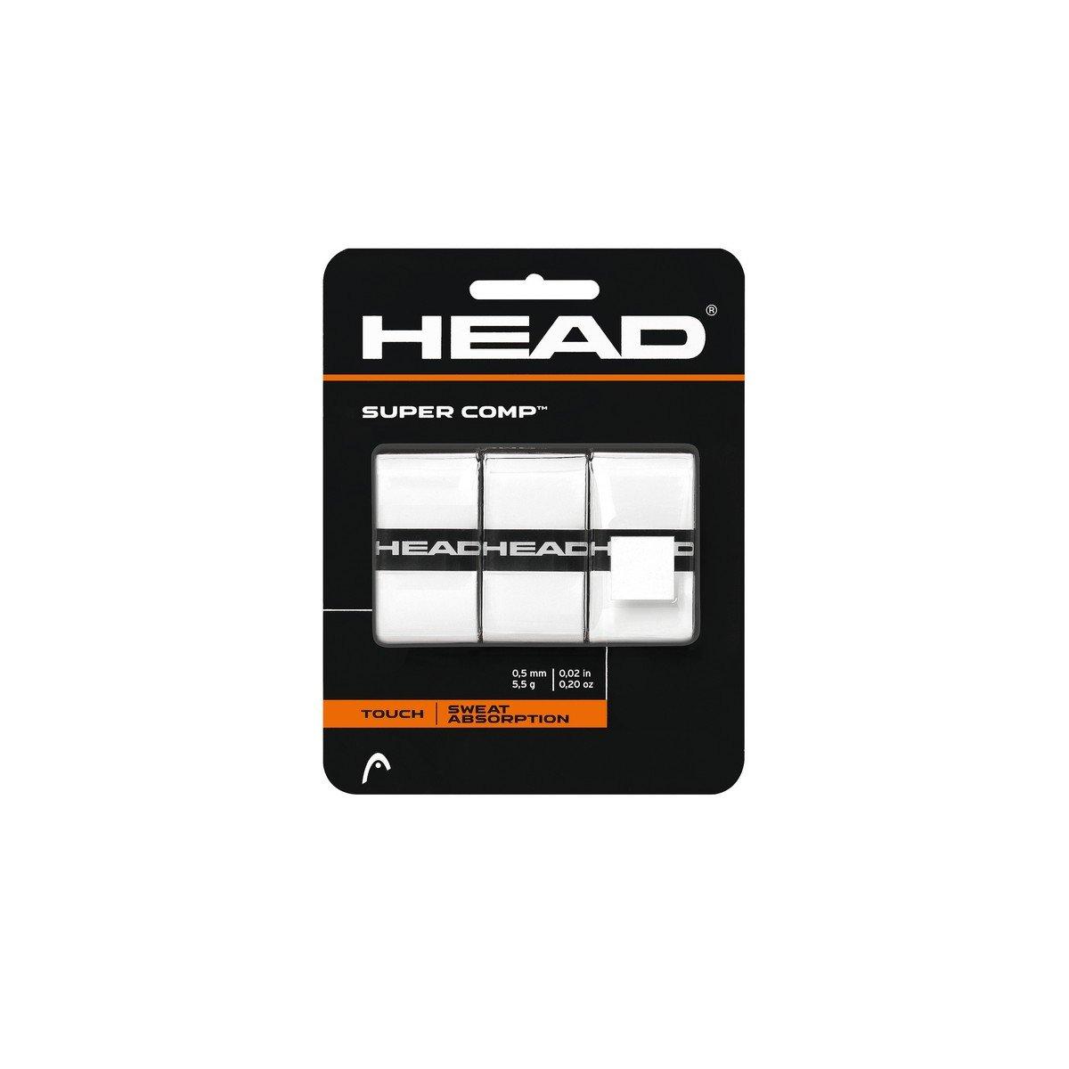 HEAD Super Comp Overgrip, Black, 3-Pack 285088-BLK