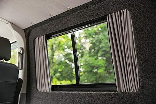 Just Kampers Juego de cortinas opacas para puerta corredera y par medio opuesto compatible con T5 T6 Transporter: Amazon.es: Coche y moto