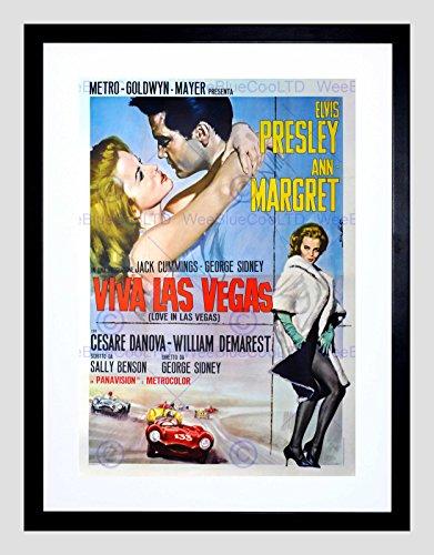 Elvis Presley Film - ADVERT MOVIE FILM VIVA LAS VEGAS ELVIS PRESLEY MGM USA FRAMED ART PRINT B12X5056