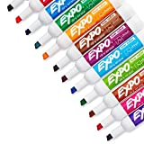 EXPO Low-Odor Dry Erase Set, Chisel Tip, Assorted