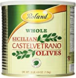 Roland Sicilian Castelvetrano Olives, Whole, 52.9 oz  Can