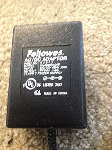 Fellowes AC Adapter Power Supply 9.0V DC 1.0A 20W Part: 32517 Model: DU48090100D