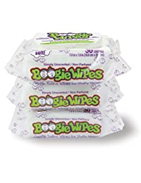 Boogie Wipes Soft Natural Saline Wet Tissues for Baby and Kids Sensitive Nose, Hand, and Face with Moisturizing  Aloe, Chamomile, and Vitamin E, Unscented, 30 Count (Pack of 3) BOBEBE Online Baby Store From New York to Miami and Los Angeles