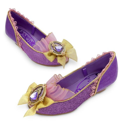 Disney Store Deluxe Rapunzel Shoes Slippers Tangled Halloween Dress Up 2 - 3]()
