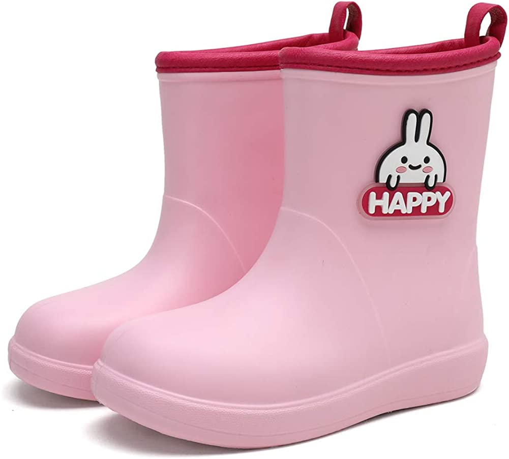 heyun Kids Rain Boots for Girls Boys Toddler Waterproof with Memory Foam Insole and Easy-on