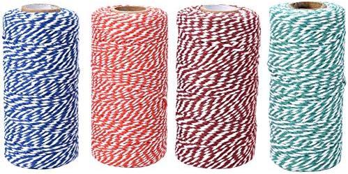 Jalan 4 Rollos Hilo de algodón de 100 m Cordel de jardín para ...
