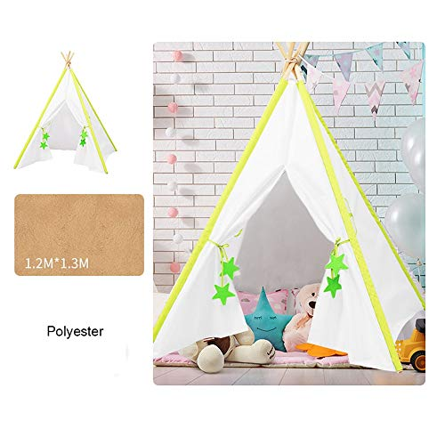Mogicry Triangle Pine Tienda para niños Desmontable Llevar Interior Casa Habitación para niños Sala de Juegos Indian Game...