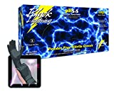 Atlantic Safety Products Black Lightning Gloves BL-XXL, Double Extra Large, Case 10 Boxes of 100 Gloves