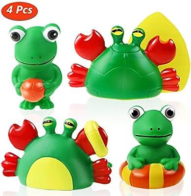 3f123da37ee7 Joylink Juguete del Baño, 4 Piezas Juguetes De Baño Bebe Patrón Animal  Juguetes Para Niñas Juguetes Niños Para Bañera