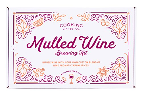 Cooking Gift Set | Mulled Wine Brewing Kit | Unique Gift for Wine Enthusiast, Thanksgiving Hostess (Cooking Gift Basket Ideas)