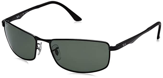 117024721b Amazon.com  Ray-Ban Sunglasses - RB3498   Frame  Black Lens  Green ...