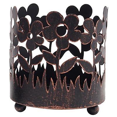 "Hosley's 4.5"" High Bronze Jar Holder, Candle Sleeve Votive tea light holder. Ideal Gift for Spa, Aromatherapy, wedding, parties. Bulk Buy"