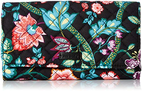 Vera Bradley Iconic RFID Audrey Wallet,  Signature Cotton, One Size