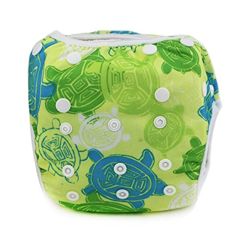 Baby Swim Diapers for Girls and Boys Washable with Adjustable Snaps for Baby Shower Gifts
