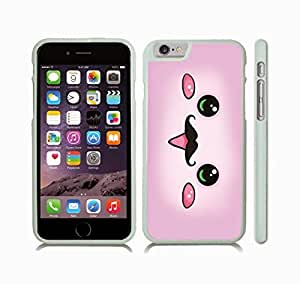 Case Cover For SamSung Galaxy Note 3 with Cute Pink Animated Face with Mustache Design Snap-on Cover, Hard Carrying Case (White)