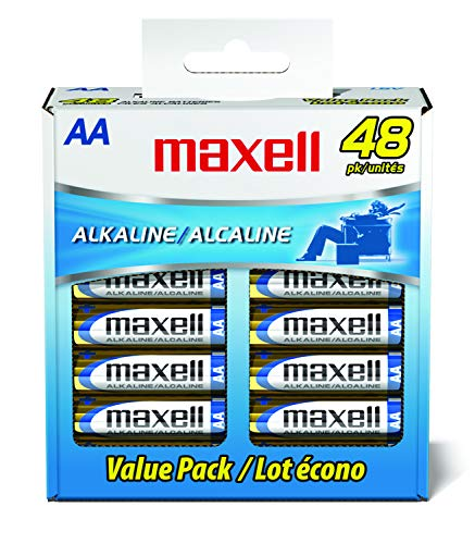 Maxell 723810P Ready-to-go Long Lasting and Reliable Alkaline Battery AAA Cell 10-Pack with High Compatibility