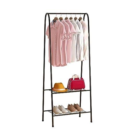 ZSHymj Perchero de pie de Metal Single Polo Clothes Pole ...