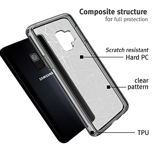 Samsung Galaxy S9 case, SMASS Secret Shine Slim Clear bumper Shock-Absorption Cover Ultra Drop Protection Anti Scratch Clear Back for Galaxy S9 - GRAY & CROSS by @hand (Image #4)