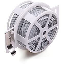 KLOUD City® 328 Feet (100m) White Multi-Function Sturdy Garden Plant Twist Tie with Cutter/ Cable Tie/Zip Tie/ Coated Wire