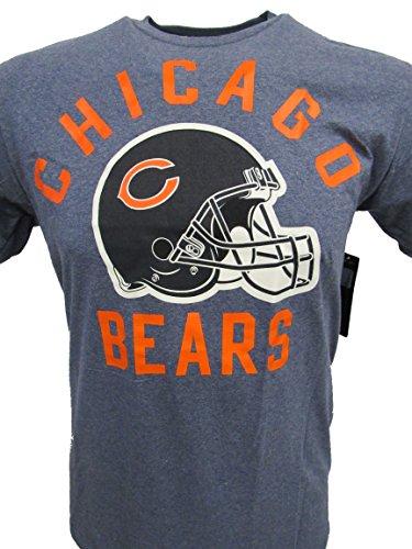 G-III Sports Chicago Bears Men's Helmet T-Shirt - Blue Heather (X-Large)