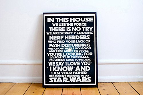 Custom Sci-fi Movie Quotes Inspired Poster, Film Poster Prints, Poster Art Print Art Work Funny Wall Prints (FRAME NOT ()