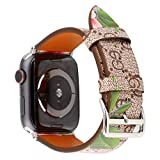 MeShow TCSHOW 38mm 40mm Tartan Plaid Style Replacement Strap Wrist Band with Metal Adapter Compatible for Apple Watch Series 4 3 2 1(Not fit for iWatch 42mm/44mm) (W)