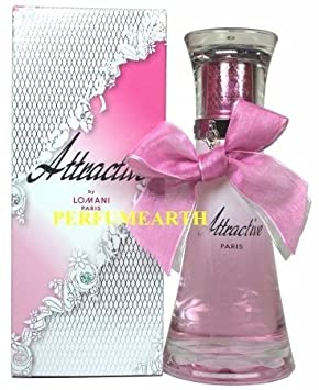 Amazon.com : Attractive By Lomani Eau De Parfum Spray for Woman 3.3oz/100ml : Beauty