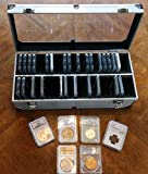 Aluminum Storage Box for 50 Universal Coin Slab Holders PCGS / NGC / Premier / Little Bear Elite Etc