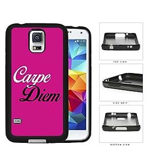 Carpe Diem Quote Latin Poet Horace Pretty Pink Hard pc pc Phone Case Cover Samsung Galaxy S5 I9600