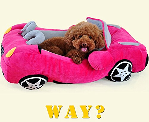 Amazon Com Kisspet Luxury Dog Bed Cozy Cute Cool Sports Car Design Pet Bed House With Removable Pet Bed Mat For Small Medium Dog And Cats 1 Piece Rose