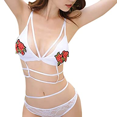 853133d2561e Internet_Mujeres, Sexy Bordado, Encaje, Conjunto de Sujetador de ...